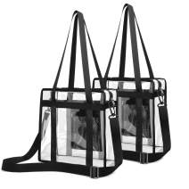 Clear Stadium Bag, Clear Tote Bag NFL Stadium Approved 12 x 12 x 6, 2 Pack
