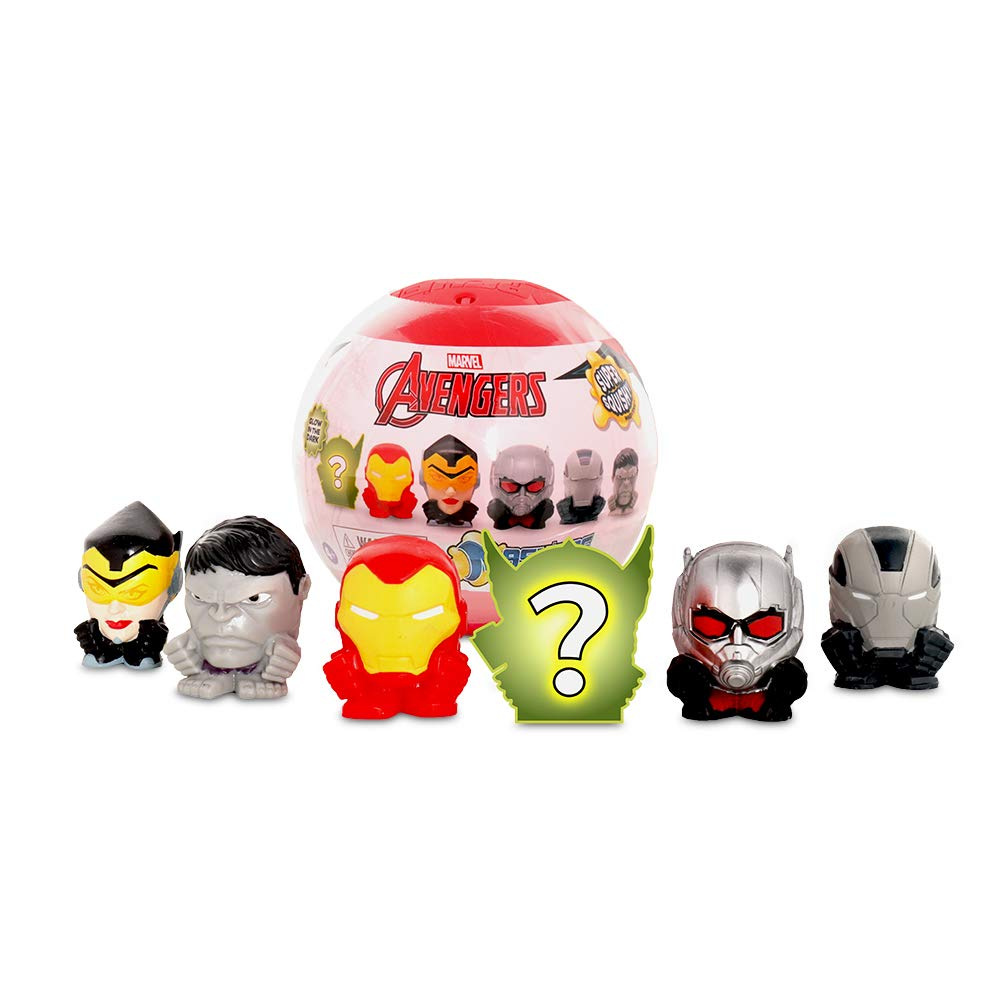 Basic Fun Official Mash'ems Super Sphere - Marvel Avengers Series 8 - Squishy Collectible Figures – 6 Pack - Amazon Exclusive
