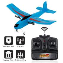 RC Plane Remote Control Airplane 2.4GHz 2 Channel EPP RC Airplane Ready to Fly RC Aircraft Glider Easy to Fly for Beginner Boys Kids (FX-807)