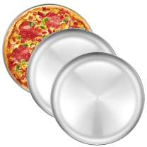 Pizza Baking Pan Pizza Tray - Deedro 12 inch Stainless Steel Pizza Pan Round Pizza Baking Sheet Oven Tray, Healthy Pizza Cooking Pan for Oven Baking, 3 Pack
