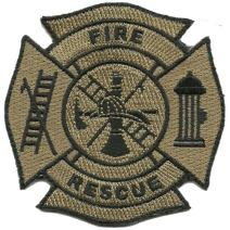 Fire & Rescue Tactical Patch - Coyote Tan