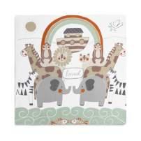 DEMDACO Noah's Ark Animals Rainbow 47 x 47 Muslin Fabric Baby Nursery Photo Swaddling Blanket