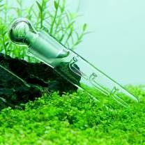 Senzeal Clear Glass 3 Hole Planaria Leech Catcher Vivarium Pest Trap Catch for Aquarium Fish Tank