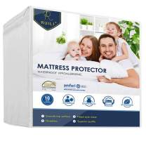 Ruili King Size Premium 100% Waterproof Mattress Protector-Vinyl Free, Safe Fitted Mattress Protector -Set of 2-10 Year Qualityb Assurance