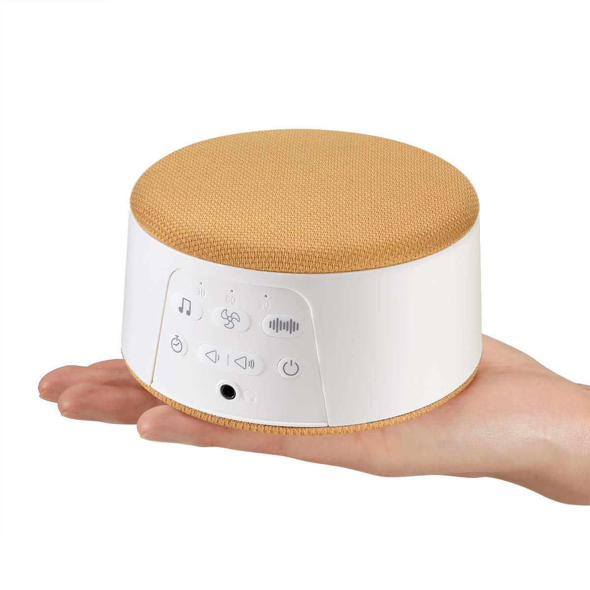 White Noise Machine Sound Machine Continuous Playing Mode with 29 Natural Soothing Sounds, Memory Timer Function Powered by AC or USB for Portable Home Therapy and Baby Kids Adults