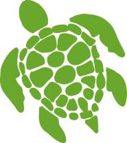 Sea Turtle Vinyl Decal - 8 Inches - For Cars, Trucks, Windows, Laptops, Tablets, Outdoor-Grade 2.5mil Thick Vinyl - Lime