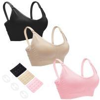 CLUCI 3 Pack Womens Nursing Bra Bralette for Maternity and Breastfeeding Seamless Wireless Breathable Sleeping Bra