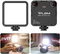 Video LED Light VIJIM VL81 Camera LED Light w 3 Cold Shoe, Rechargeable Soft Light Panel for DJI OSMO Mobile 4 Pocket Zhiyun Smooth Sony ZV-1 A7 III RX100 VII Canon G7X III A6400 GoPro 9/8 Vlogging