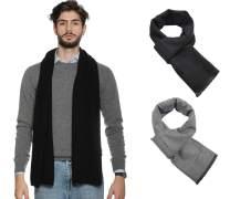 Men Scarf Winter Scarves for Men Tassels Fashion Plain Soft Warm Scarves 2 Pack Unisex