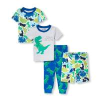 The Children's Place Baby Boys 2 Pack Novelty Printed Variety Pajama Set