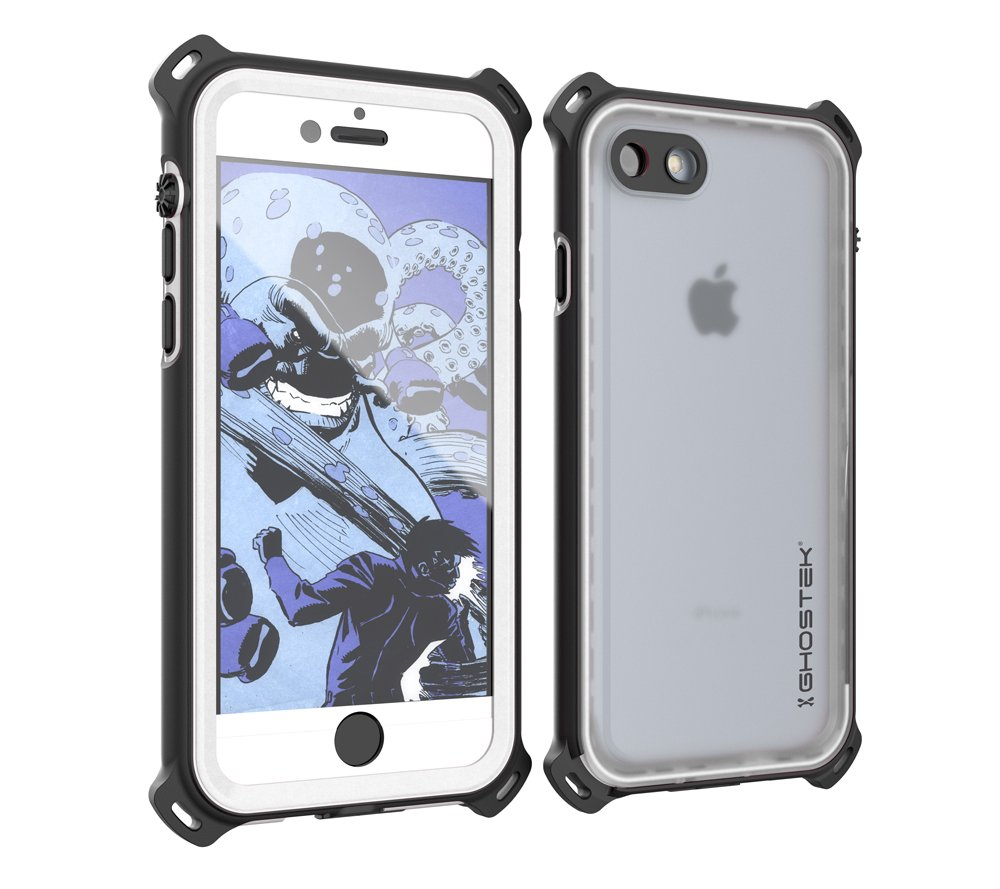 iPhone 7 Waterproof Case, Ghostek Nautical Series for Apple iPhone 8 | Slim Underwater Protection | Shockproof | Dirt-Proof | Snow-Proof | Protective | Adventure Duty | Ultra Fit | Swimming (White)