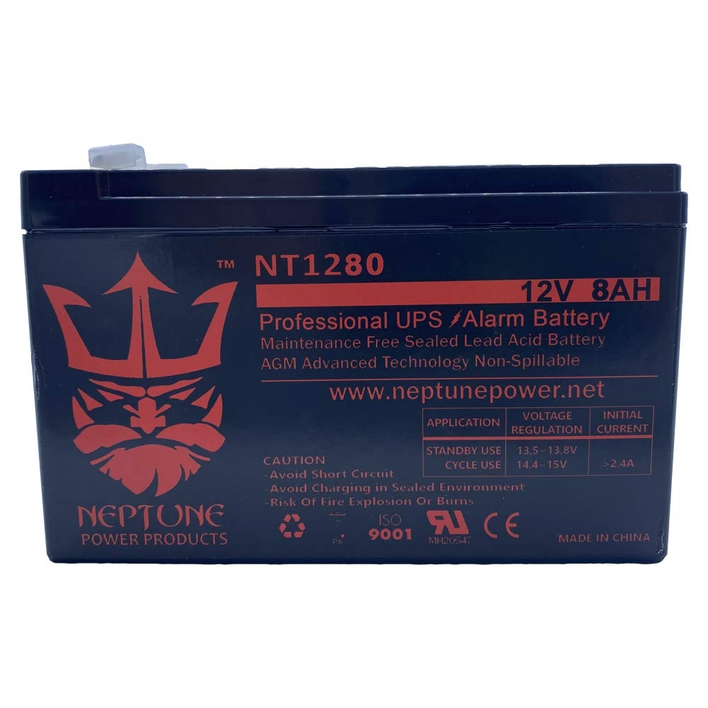Verizon FiOS GT12080-HG 12V 8Ah GS Portalac Battery Replacement PX12072HG by Neptune