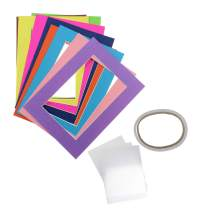 MYKUJA Pack of 10 Mixed Colors Pre-Cut 4x6 Picture Mat Photo White Core Bevel Art Mats Brand Premier Acid-Free Frames White Core Bevel Cut Matte Frames for Photo