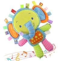 FOREAST Baby Rattles Toys Infants Pacify Doll Soft Stuffed Animal Newborn Elephant Bunny Handbells 0-3 Years Old Toddlers (Elephant)
