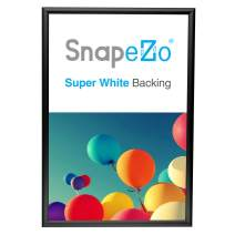 SnapeZo Poster Frame 20x30 Inches, Black 1 Inch Aluminum Profile, Front-Loading Snap Frame, Wall Mounting, Sleek Series