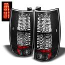 For Chevy Suburban Tahoe Yukon Denali Black Bezel LED Tail Light Brake Driver/Passenger Lamps