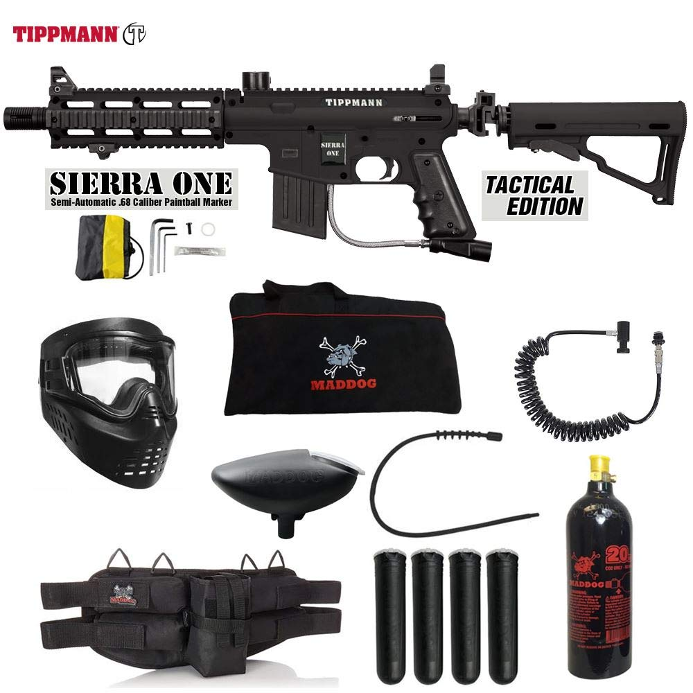 MAddog Tippmann Project Salvo Sierra One Specialist Paintball Gun Package