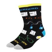 HAPPYPOP Men's Llama Space Astronaut Constellation Airline Socks Fun Game Design