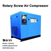 """HPDAVV Rotary Screw Compressor - 15HP / 11KW - 46 CFM & 150 PSI - 230 Voltage / 60Hz / 3-Phase - NPT 3/4"""" Industrial Air Compressed System with Built-in Oil Separator"""