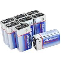ACDelco 9 Volt Batteries, Super Alkaline Battery, 8 Count Pack