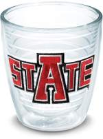 Tervis 1006505 Arkansas State Red Wolves Tumbler with Emblem 12oz, Clear