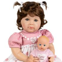 Paradise Galleries Reborn Toddler Doll - Big Sister, 20 inch in SoftTouch Vinyl, 6-Piece Reborn Doll Gift Set