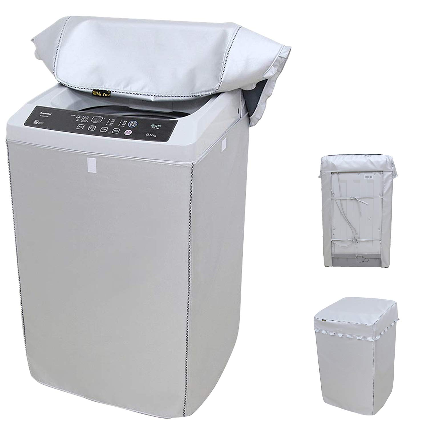 "Portable Washing Machine Cover,Top Load Washer Dryer Cover,Waterproof Full-Automatic/Wheel Washing Machine Cover(24""25""38""inches X-Large)"