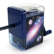 Manual Pencil Sharpener, Interactive Sharpeners with Solar System Decompression Design on the Top for School Office Home (DeliER10104-Blue)