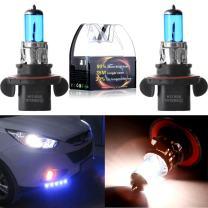 cciyu H13 9008 5900K Super White 55W Halogen Light High Low Beam Headlight Bulb(Pack of 2pcs)