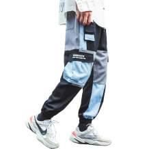 Aelfric Eden Men's Color Patchwork Cargo Pants Hip hop Joggers Streetwear Pants