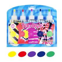 KISSBELLY 3/5/12/18/24 Colours One Step Tie Dye Kit Shirt Fabric Textile Paints Dying Kits Permanent Clothes Graffiti Jacquard Pigment for Adults Kid