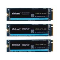 Inland Premium 256GB SSD 3 Pack 3D NAND M.2 2280 PCIe NVMe 3.0 x4 Internal Solid State Drive (256GBx3)