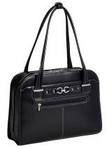 "McKlein, L Series, Mayfair, Top Grain Cowhide Leather, 15"" Leather Ladies' Laptop Briefcase, Black (96305C)"
