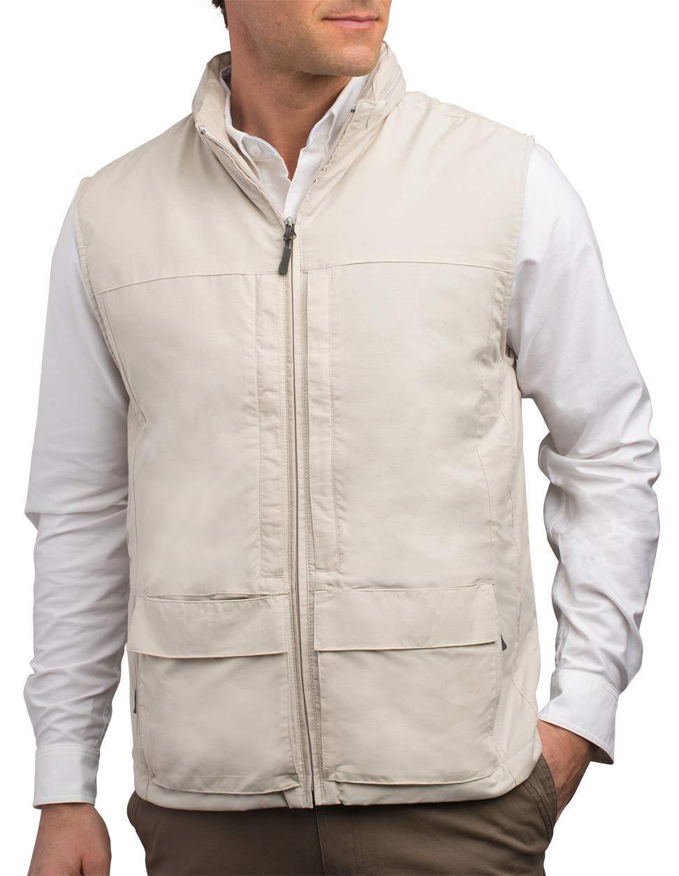SCOTTeVEST Quest Vest for Men - 42 Pockets - Travel Utility Vest - Stowable Hood