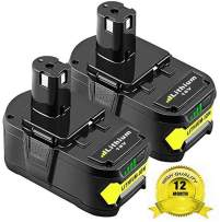 2Pack 5.0Ah P108 Replacement Battery for Ryobi One+, 18V Li-ion Battery for Ryobi One+ P104 P105 P102 P103 P107