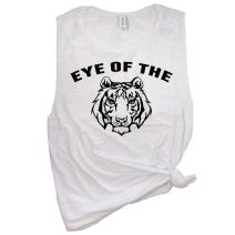 Spunky Pineapple Eye of The Tiger Funny Muscle Tee