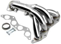 DNA motoring HDS-HC01DX Stainless Steel Exhaust Header Manifold