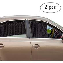 Car Side Window Sun Shade - Magnetic Privacy Sunshades Window Curtain Keeps Cooler Screen for Baby Sleeping Black (2 Pcs)