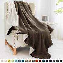 """Walensee Sherpa Fleece Blanket (Twin Size 60""""x80"""" Brown) Plush Throw Fuzzy Super Soft Reversible Microfiber Flannel Blankets for Couch, Bed, Sofa Ultra Luxurious Warm and Cozy for All Seasons"""
