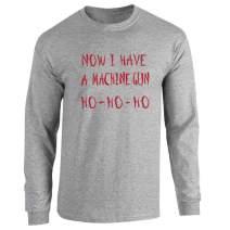 Yippee Ki Yay Now I Have a Machine Gun Nakatomi Full Long Sleeve Tee T-Shirt