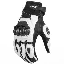 ILM Air Flow Leather Motorcycle Gloves For Men and Women (M, WHITE)