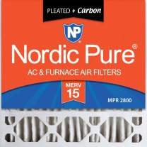 Nordic Pure 20x20x5 MERV 15 Plus Carbon Honeywell/Lennox Replacement AC Furnace Air Filters 2 Pack