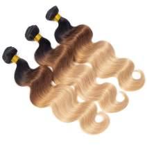"Fastest Delivery 10A Ombre Brazilian Body Wave Human Hair 3 Bundles (T1B/30/27,20"" 22"" 24"") Ombre Brazilian Virgin Hair Bundles Unprocessed Remy Hair Bundles 3 Tone Ombre Bundles"