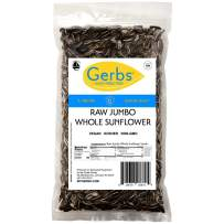 Jumbo Raw Whole Sunflower Seeds, 2 LBS. by Gerbs – Top 14 Food Allergy Free & NON GMO - Vegan & Keto Safe - Grown in USA