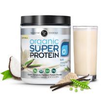 Organic Super Protein - Vegan Vanilla Protein Powder Shake - USDA Certified Organic, Non-GMO, Gluten Free, Plant Based, 18g Protein - (520 Grams)