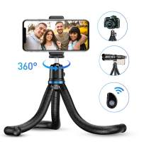Phone Tripod, Apexel Flexible Tripod Stand with Wireless Remote Shutter and Universal Clip,Compatible with iPhone, Android Phone, Sports Camera GoPro