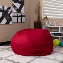 Flash Furniture Oversized Solid Red Bean Bag Chair