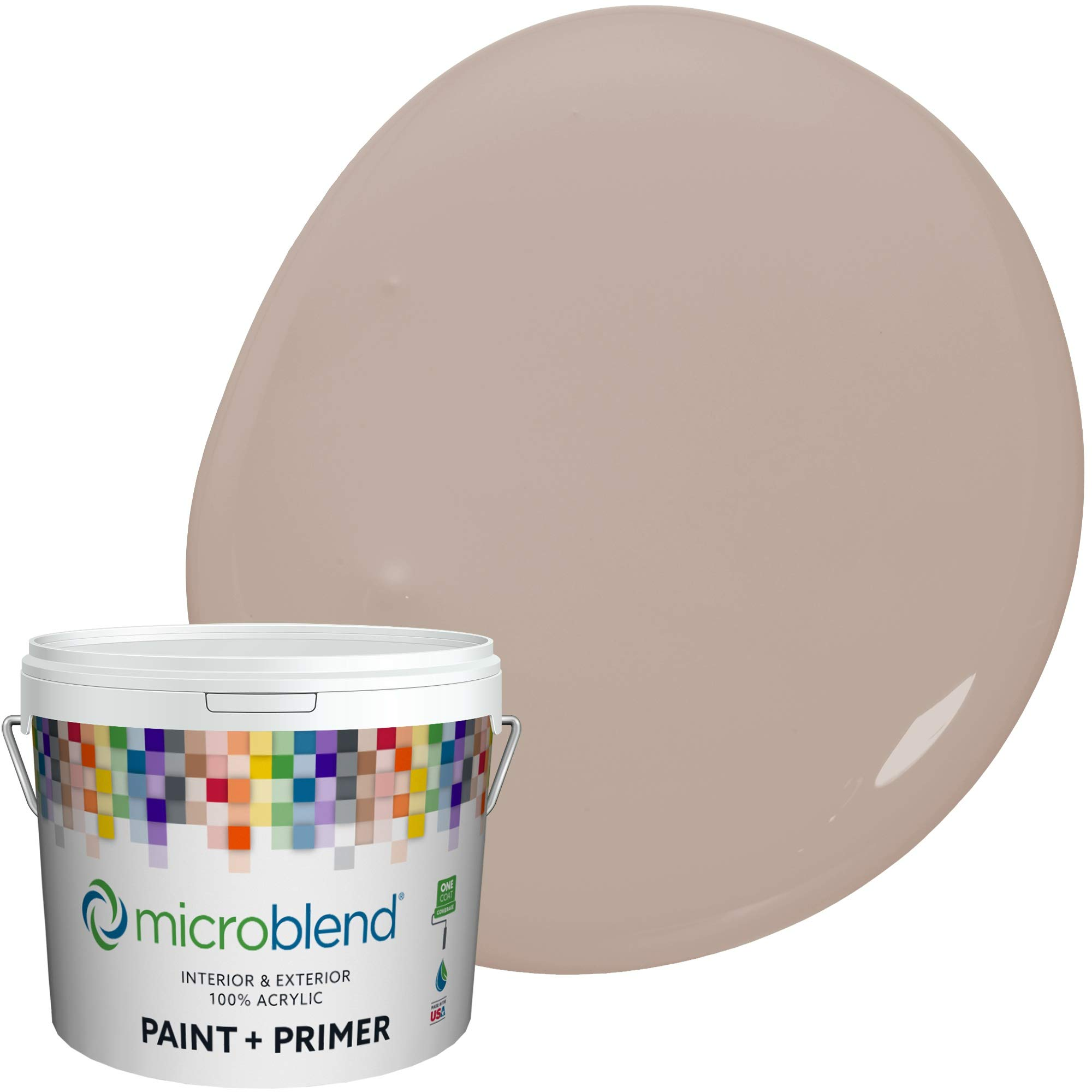 Microblend Interior Paint + Primer, Bird's Nest, Eggshell Sheen, 1 Gallon, Custom Made, Premium Quality One Coat Hide & Washable Paint (73221-2-M1855B3(C))