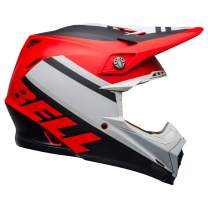 Bell Moto-9 MIPS Off-Road Motorcycle Helmet (Prophecy White/Red/Black, Medium)