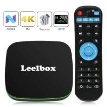 Leelbox Android TV Box, Q1 Android Box with BT Supporting 4K (60Hz) Full HD/H.265/2.4GHz WiFi